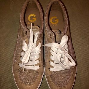 G by Guess gold sparkle sneaker